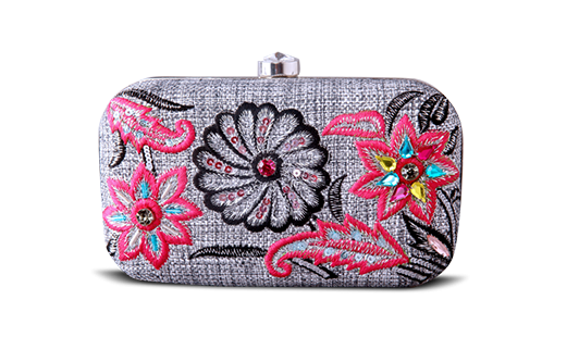 Saanchi - Beaded Floral Clutch