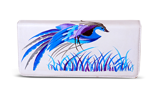Saanchi - Hand Painted Long Clutch