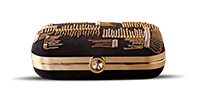Saanchi - Gold Chain Clutch