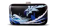 Saanchi - Bird Metallic Clutch