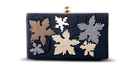 Saanchi - Flower Metallic Clutch