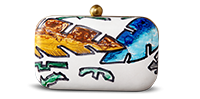 Saanchi - Hand Painted Clutch