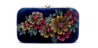 Saanchi - Hand Painted  Floral Clutch